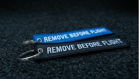 porte-clés x2 bleunoir brodés 140x30