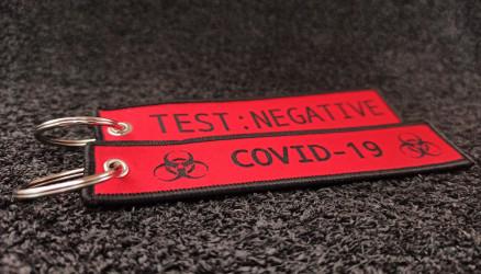Porte-clés Coronavirus Rouge Tissé