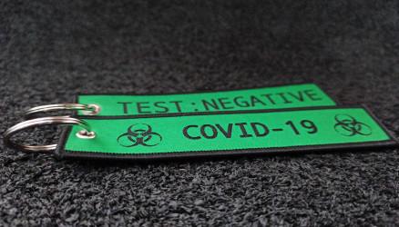Green Woven Coronavirus Key Chain