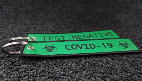 Green Woven Coronavirus Keychains