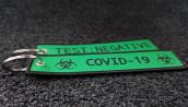 Porte-clés Coronavirus Vert Tissé