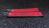 Red Woven Coronavirus Keychains +