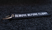 porte-clés brodé RBF noir 120x25