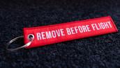 porte-clés tissé RBF rouge 120x25