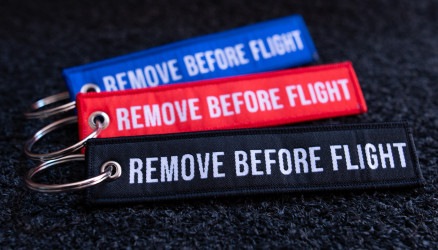 Woven Remove Before Flight Keyrings 3-Pack 4.72x0.98