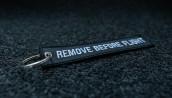 porte-clés brodé RBF noir 140x30