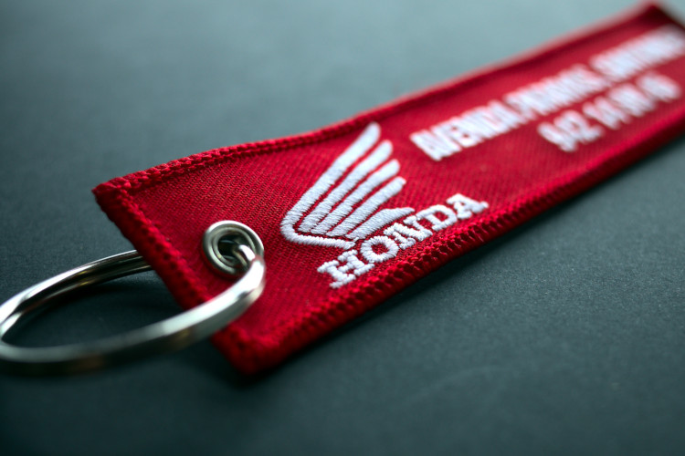 Honda embroidered key chain
